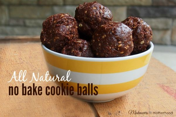 All Natural No Bake Cookie Balls; www.makeoversandmotherhood.com
