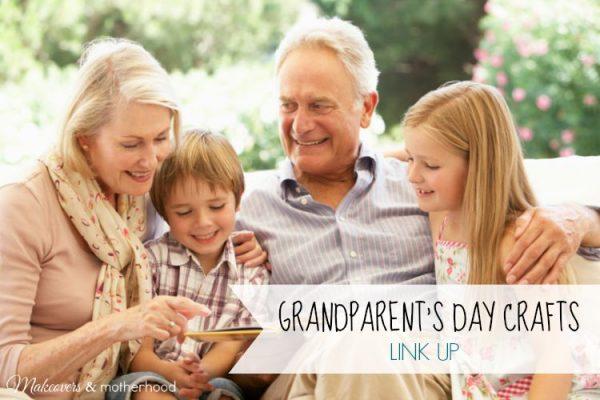 Grandparent's Day Craft Link Up; www.makeoversandmotherhood.com