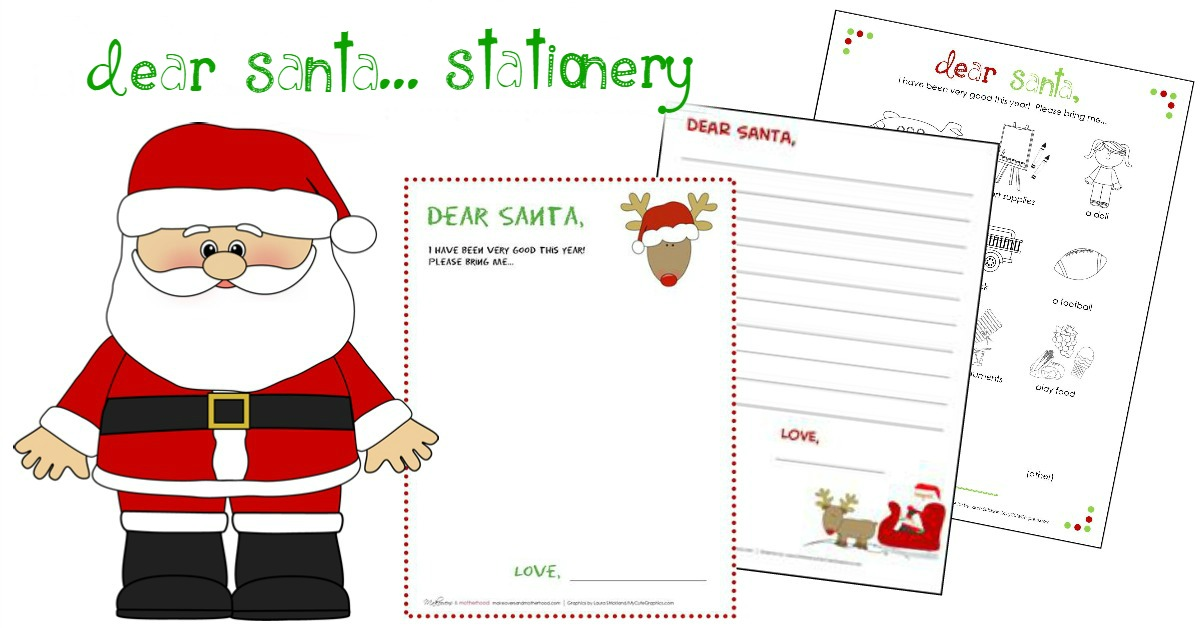 dear santa stationery printables makeovers and motherhood