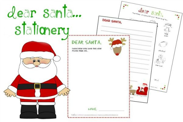 Dear Santa Stationery; www.makeoversandmotherhood.com