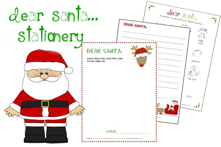 It is a photo of Free Printable Santa Stationary for editable