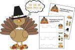 Thanksgiving Scissor Cutting Practice Sheets