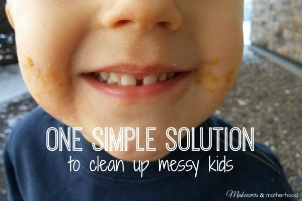 Simple Solution to Clean Up Messy Kids; www.makeoversandmotherhood.com