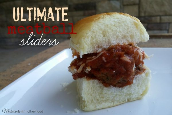 Ultimate Meatball Sliders; www.makeoversandmotherhood.com