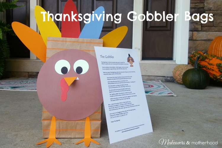 Thanksgiving Gobbler Bags; www.makeoversandmotherhood.com