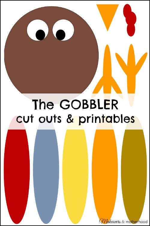 The GOBBLER cut outs & printables; www.makeoversandmotherhood.com