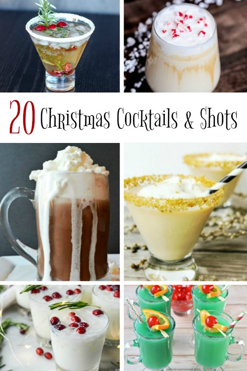 20 Christmas Cocktails & Shots your guests will love! www.makeoversandmotherhood.com