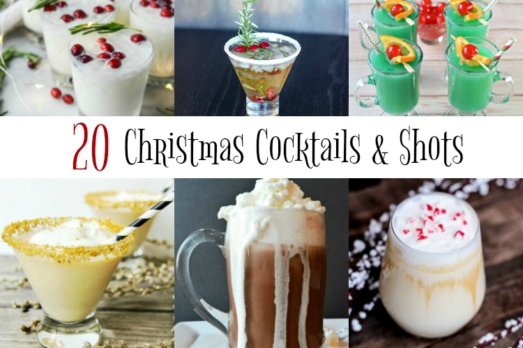 20 Christmas Cocktails & Shots to brighten your holiday! www.makeoversandmotherhood.com