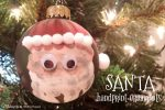 Santa Handprint Ornaments; www.makeoversandmotherhood.com
