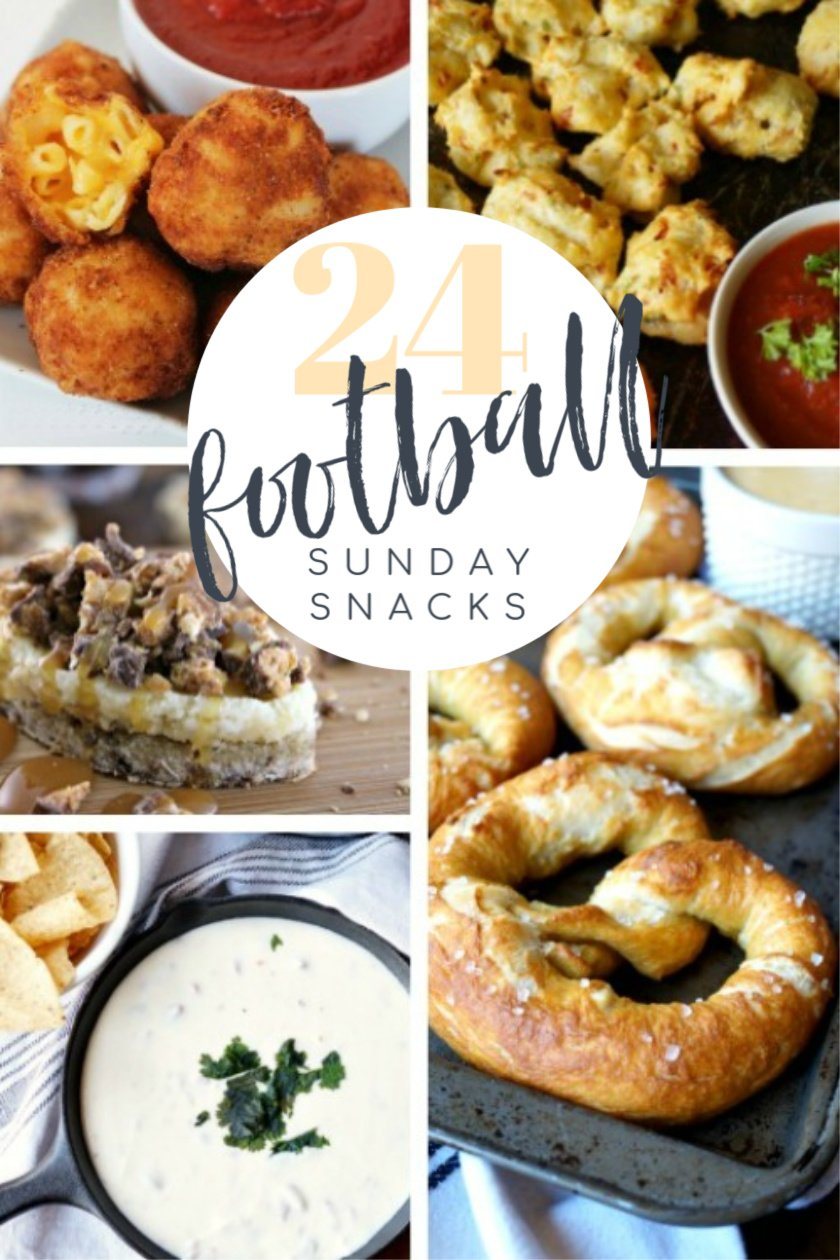Football snacks and appetizers