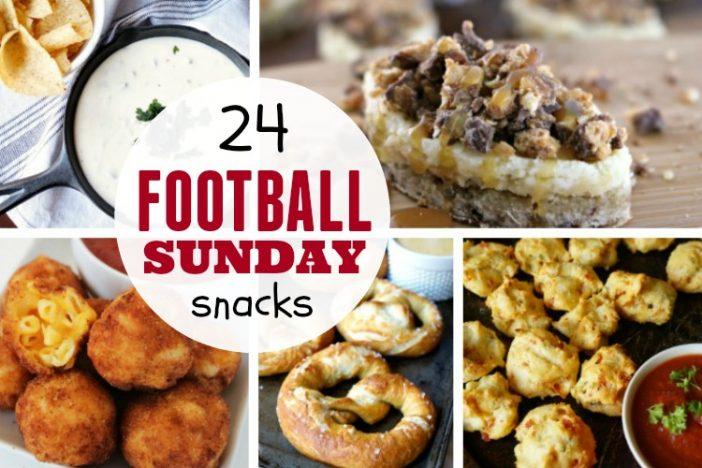 24 Football Sunday Snacks