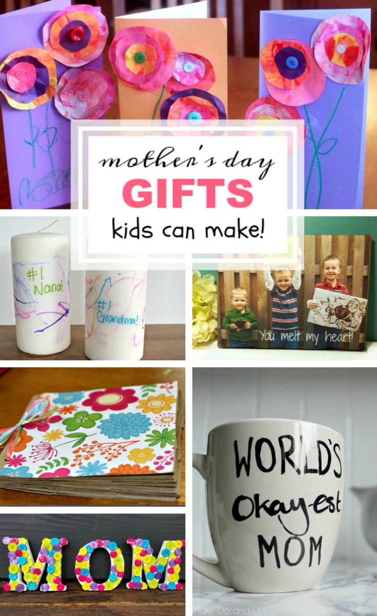 Mother's Day Gifts Kids Can Make round-up image for Pinterest