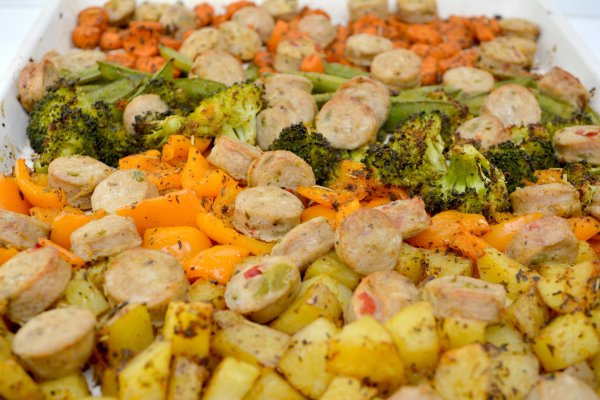 Cooked Veggies & Sausage