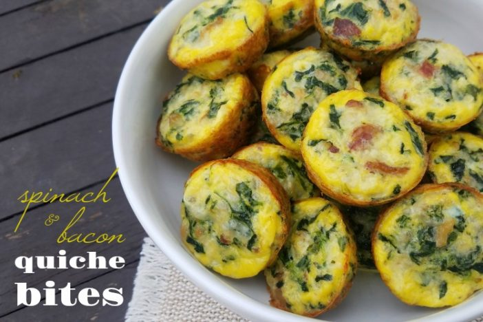 Spinach & Bacon Quiche Bites