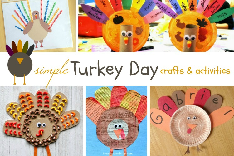 Turkey Day Crafts & Activities; www.makeoversandmotherhood.com