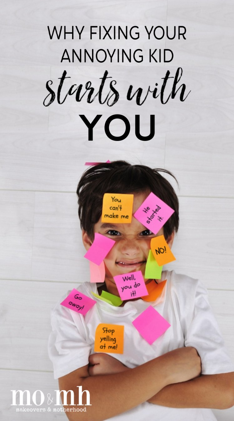 Boy with post it notes on -- Pinterest image