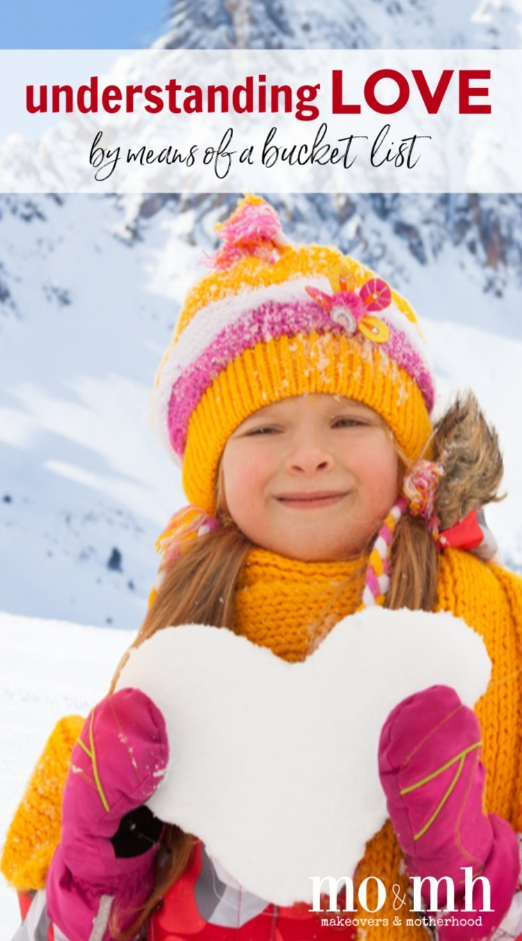 Girl with snow heart Pinnable image