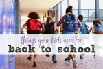 Kids running back to school