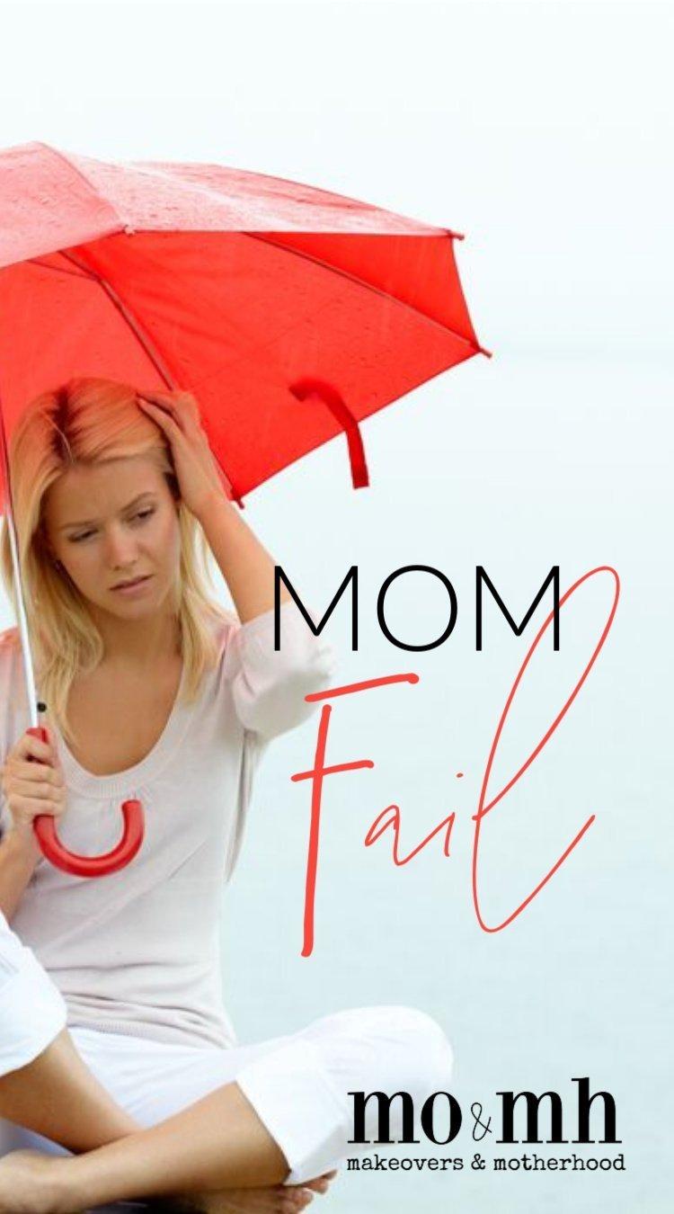Woman feeling like a mom fail