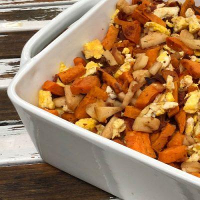 Sweet Potato & Apple Breakfast Hash